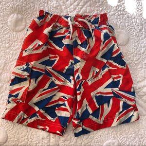 TU Size 5 YRS Union Jack Swim Suit Trunks Shorts